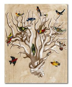 Take a look at this The Ornithologist's Dream I Canvas Wall Art by COURTSIDE MARKET on #zulily today!