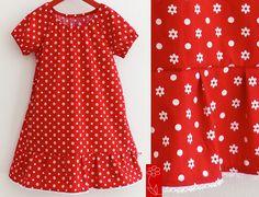"""Mädchenkleid """"Greta"""" - Schulanfangskleid von  katharina-meintke-kids - Lieblingssachen für Kinder auf DaWanda.com"""