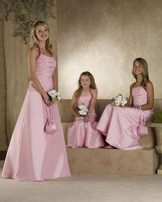 Halter Neckline A-line Satin Bridesmaid Dresses