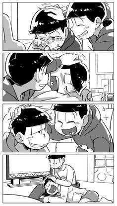 びーたま - 【おそ松さん】『なでなでする長男される長男』(漫画)