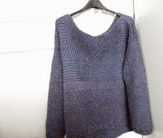 La souris aux petits doigts: Purple : le gros pull texturé qui fait son p'tit effet (tuto) Couture, Knit Fashion, Knitted Blankets, Knit Cardigan, Knitwear, Knitting Patterns, Knit Crochet, Pullover, Sweaters