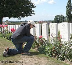 Visiting Tyne Cot Cemetery, Passchendaele (Passendale), the largest British military cemetery in the world.