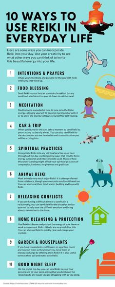 This infographic can easily show how to implement reiki into your every day life. chances are you can use reiki energy healing techniques in more ways than you realized, and these are some great ideas on how to do so! Reiki Meditation, Simbolos Do Reiki, Chakras Reiki, Usui Reiki, Le Reiki, Reiki Room, Reiki Healer, Meditation Symbols, Meditation Images
