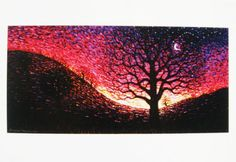 Pointillism, Tree Of Life, Dawn, Father, Collections, Tapestry, Artists, Pictures, Painting