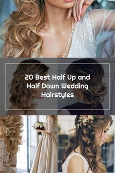 curls clipped to one side half up half down wedding hairstyles #weddingbeauty Wedding Hair Side, Half Up Half Down, Wedding Beauty, One Sided, Wedding Hairstyles, Curls, Hair Styles, Hair Plait Styles, Hair Makeup