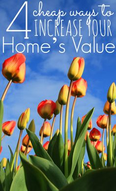 There are many cheap ways to increase your home's value. This can make selling time much easier! http://thejennypincher.com/4-cheap-ways-to-increase-your-homes-value/