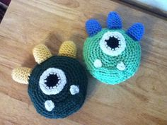 Crochet Monster Rattle by whitfield72855 on Etsy, $6.00