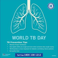 TB is caused by bacteria that affects the lungs. TB is curable and preventable.There is a effective treatments for TB in Homeopathy & Today on World TB Day Homeocare International stepped forward to run a campaign and cure TB related problems.