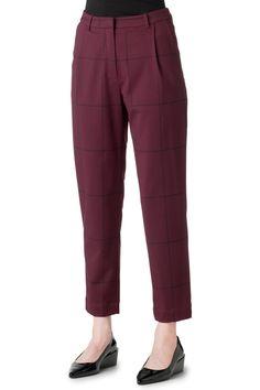 Weekday 3/4 pants in burgundy