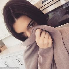 'Hi sister': Later in the day, Khloe shared a snap of her younger model sister Kendall Jen...