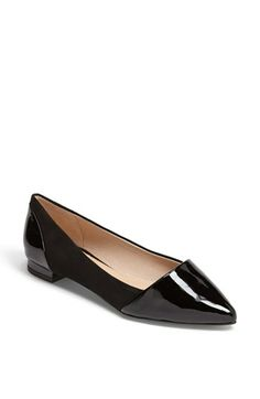 black patent and suede pointed toe flats {40% off during Nordstrom's Half Yearly Sale!}