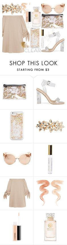 """It's so clear now"" by iiannanasii ❤ liked on Polyvore featuring ban.do, Dorothy Perkins, Linda Farrow, TIBI, Jane Iredale, MAC Cosmetics, Tory Burch, clear and Seethru"