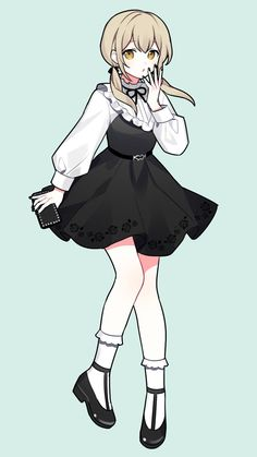 Drawing Anime Clothes, Anime Girl Drawings, Cute Drawings, Cute Girl Drawing, Cute Anime Pics, Anime Girl Cute, Kawaii Anime Girl, Anime Character Drawing, Cute Anime Character