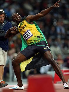 Usain Bolt. That's how it's done.