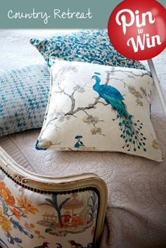 Bird Parade Teal Cushion #Hillarys #PinToWin