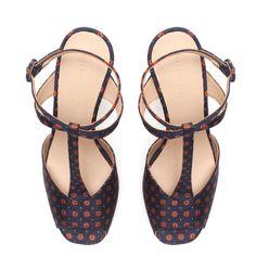 Zara Printed Platform Sandal ($90) via Polyvore