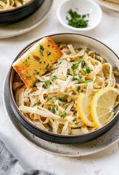 Tortellini, Penne, Fettucine Alfredo, Fettuccine Pasta, Pasta Alfredo, Linguine, Pasta Recipes, Cooking Recipes, Healthy Recipes