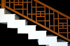 stair rail a good combo of safety & beauty