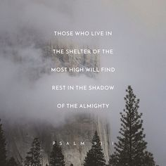 "He who dwells in the shelter of the Most High will abide in the shadow of the Almighty. I will say to the Lord, ""My refuge and my fortress, my God, in whom I trust."" ‭‭Psalms‬ ‭91:1-2‬‬"
