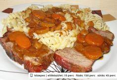 Vörösborban párolt vaddisznócomb Meatloaf, Sausage, Pork, Food And Drink, Beef, Dishes, Recipes, Kale Stir Fry, Meat