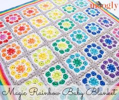 Magic Rainbow Baby Blanket: free join-as-you-go #crochet pattern from Mooglyblog.com!
