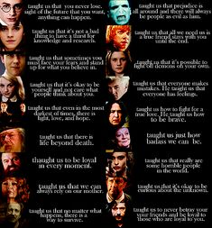 What the characters of Harry Potter taught us in a nutshell...Love it