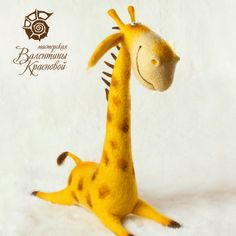 Felt giraffe by Valentina Krasnova
