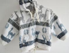 Vintage kids wool Ecuadorian hoodie with by StellaRaeVintageBaby, $35.00