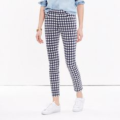 Skinny Crop Jeans: Gingham Edition