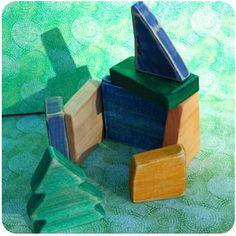 So cool, homemade blocks.    http://www.make-baby-stuff.com/wooden-building-blocks.html
