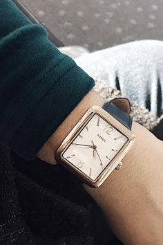 The rose gold Atwater shaped case watch is dreamy. via @ itssofiaemm