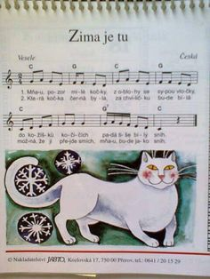 Zima je tu Winter Fairy, Kids Songs, Music Notes, Winter Time, Fairy Tales, Preschool, Education, Children, Sheet Music
