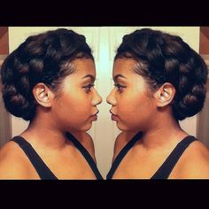 Pin for Later: 35 Protective Styles That Will Save You Hours of Styling Time Secure Side Braid Protective Styles, Protective Hairstyles, 2015 Hairstyles, Afro Hairstyles, Haircuts, Updo Hairstyle, Hairstyle Ideas, Pretty Hairstyles, Hair Ideas