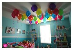 Wake up to a cloud of balloons for her birthday
