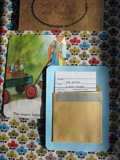 Book Themed Invitations: Brings me back to my elementary school library. These are so creative!