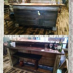 Just got a chance to post this picture of the latest bar Jeremie made.  He brought it in Friday and it sold Sunday. $1200 #cherisheverymoment #upcycling #homedecor