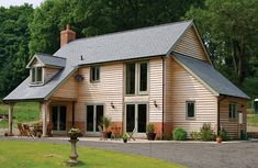 Self build - Welsh Oak Frame House Timber Frame Homes, Timber House, Lofts, Oak Frame House, Self Build Houses, European Home Decor, European Homes, House Extensions, Kit Homes