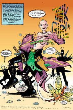 Tank Girl Comic, Jamie Hewlett Art, Futuristic Motorcycle, Library Art, Perspective Art, Gorillaz, Wedding Art, Comic Art, Comic Book