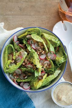 Butter Lettuce Salad with Radishes, Chives, and Toasted Hazelnuts