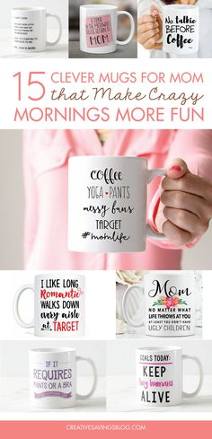 These funny mugs for mom are the perfect gift for the caffeine addicted wife and mother that keeps your family running smoothly... while she runs on coffee.