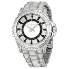 Michael Kors Everest Crystal-set Dial Crystal Pave Ladies Watch *** Continue to the product at the image link. Casual Watches, Cool Watches, Rolex Watches, Watches For Men, Stainless Steel Bracelet, Stainless Steel Case, Black Crystals, Swarovski Crystals, Bracelet Set