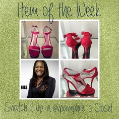 Item of the Week  Posher: @vpamphile  Item: Red Dress Sandals  Size: 11  Brand: Jacqueline Ferrar  Price: $30 J. Crew Shoes Sandals