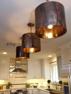 Copper Kitchen Ceiling Lights - Kitchen light fixtures add value and style to your property, and will brighten your kitchen Copper Light Fixture, Copper Pendant Lights, Copper Lamps, Industrial Light Fixtures, Copper Lighting, Kitchen Lighting Fixtures, Pendant Lighting, Ceiling Lighting, Pendant Lamp