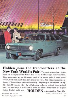Holden Premier, Holden Wagon, Holden Muscle Cars, Holden Australia, Australian Muscle Cars, Australian Vintage, Car Brochure, Big Design, Car In The World