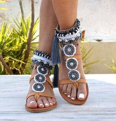 BOHEMIAN RHAPSODY sandals/  boho sandals/ leather Greek