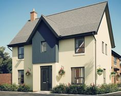 """Cream new build house #architecture #home The """"Morpeth"""" design by Barratt Homes"""