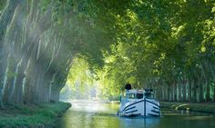 along the banks of the Canal du Midi, France