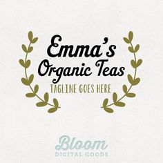 Premade Small Business Logo - Shoots & Leaves