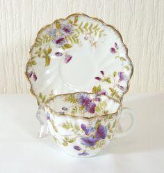 Art Deco Fine bone china Shelley Style Tea Cup, Saucer