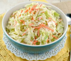 KFC-Coleslaw-Recipe -made this for dinner tonight. It was better than KFC perhaps because it was fresher and a smaller batch ( for Potluck Recipes, Ww Recipes, Copycat Recipes, Salad Recipes, Cooking Recipes, Healthy Recipes, Cooking Ideas, Delicious Recipes, Simply Recipes